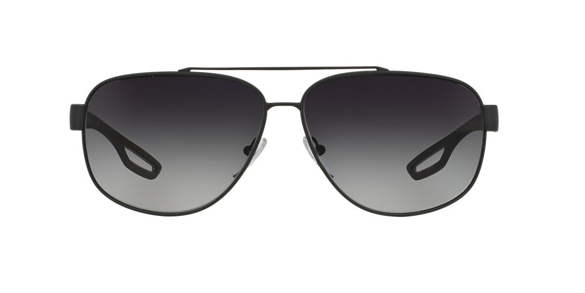 PRADA LINEA ROSSA Silver PS 58QS Grey polarised lenses 63mm