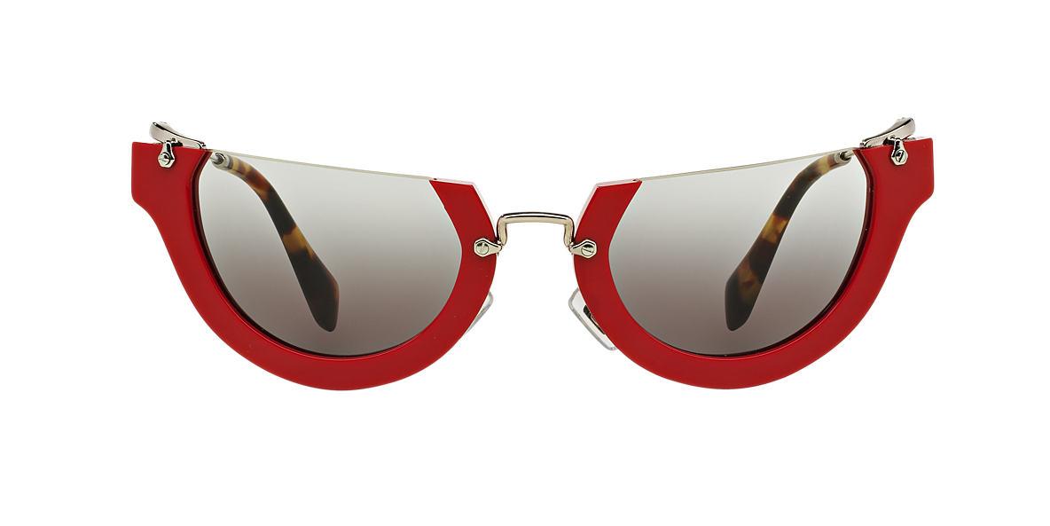 MIU MIU Red MU 11QS 52 RASOIR Grey lenses 52mm