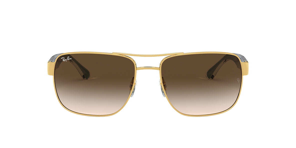 RAY-BAN Gold RB3530 58 Brown lenses 58mm