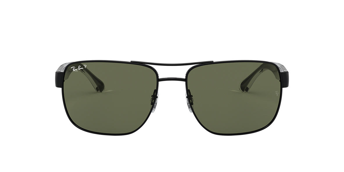 RAY-BAN Gunmetal RB3530 58 Green polarized lenses 58mm