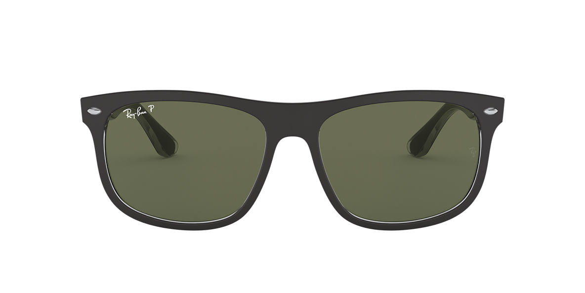 RAY-BAN Black RB4226 56 Green polarised lenses 56mm