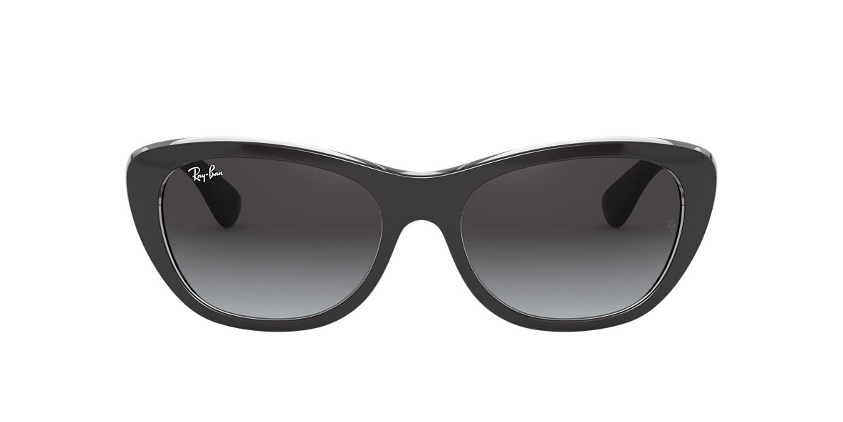 RAY-BAN Black Matte RB4227 55 Grey lenses 55mm