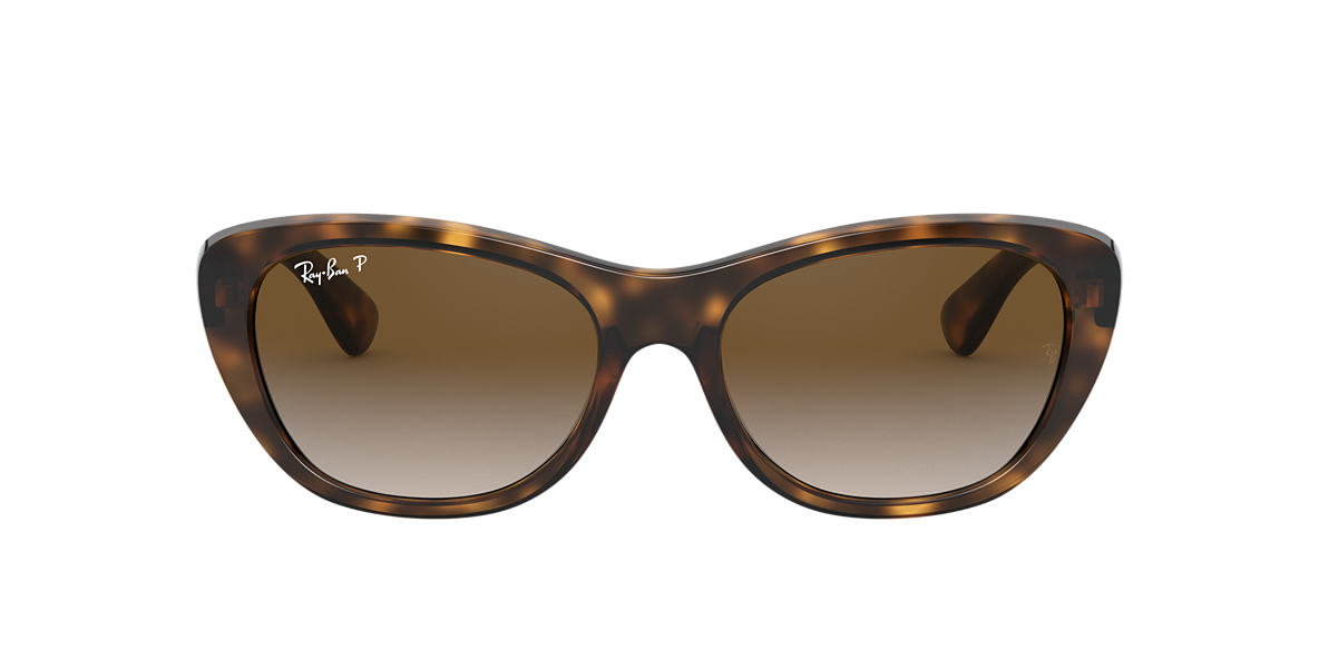 RAY-BAN Brown RB4227 Grey polarised lenses 55mm