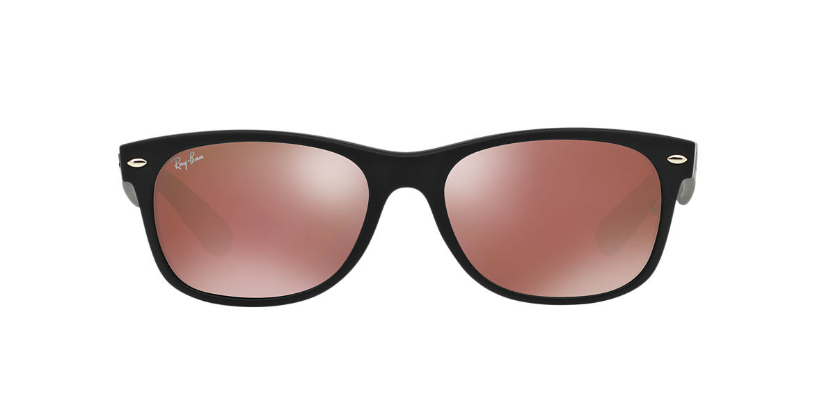 RAY-BAN Black RB2132 55 NEW WAYFARER Red lenses 55mm