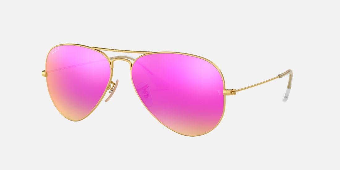 ray ban rosa aviator