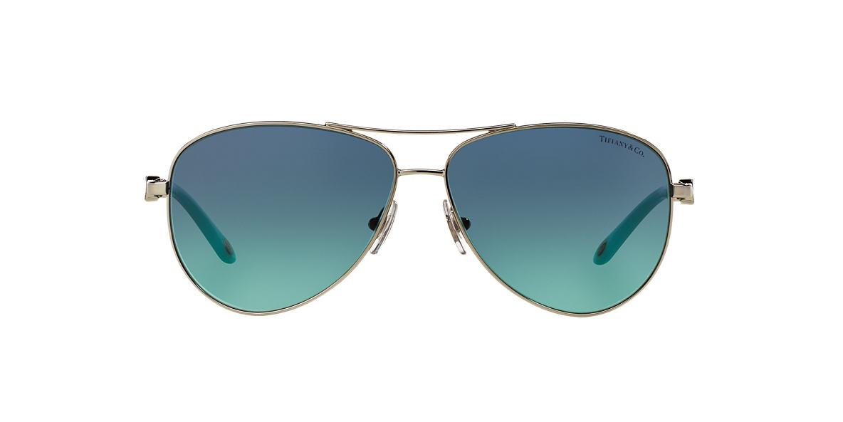 TIFFANY Silver TF3049B 58 Blue lenses 58mm