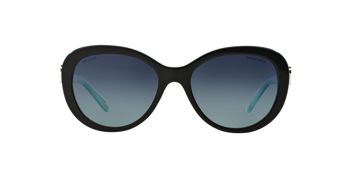 TIFFANY & CO Black TF4113 Blue polarised lenses 56mm
