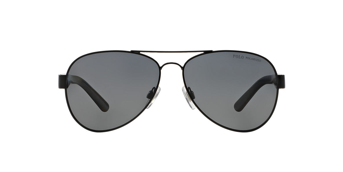 POLO RALPH LAUREN Black PH3096 59 Grey polarized lenses 59mm