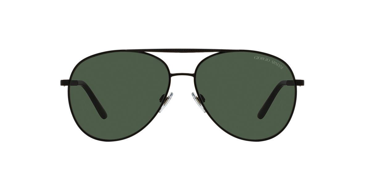 GIORGIO ARMANI Black Matte AR6030 60 Green lenses 60mm