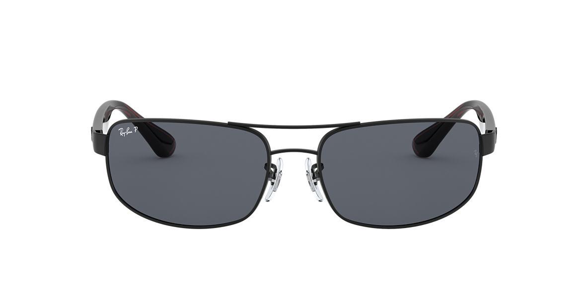 RAY-BAN Black Matte RB3445 61 Grey polarized lenses 61mm
