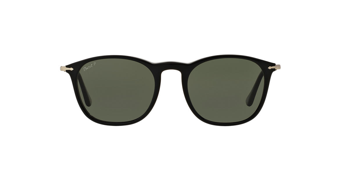 PERSOL Black PO3124S 50 Green polarized lenses 50mm