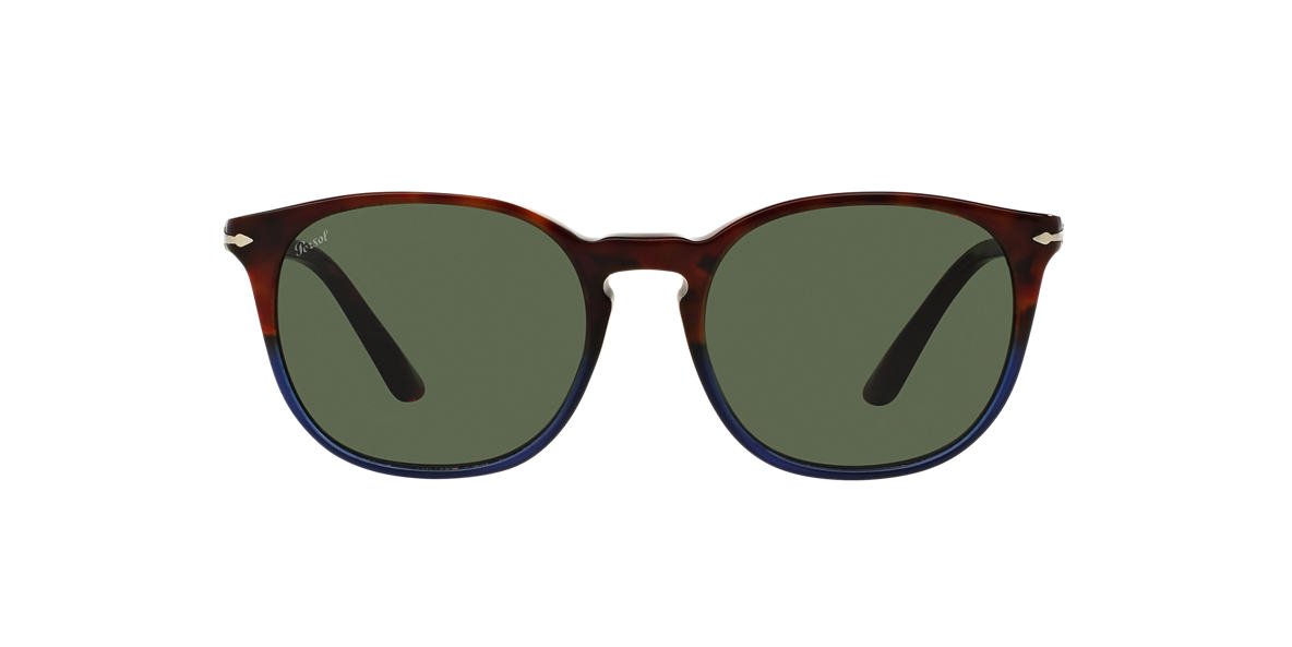 PERSOL Blue PO3007S 53 Green lenses 53mm