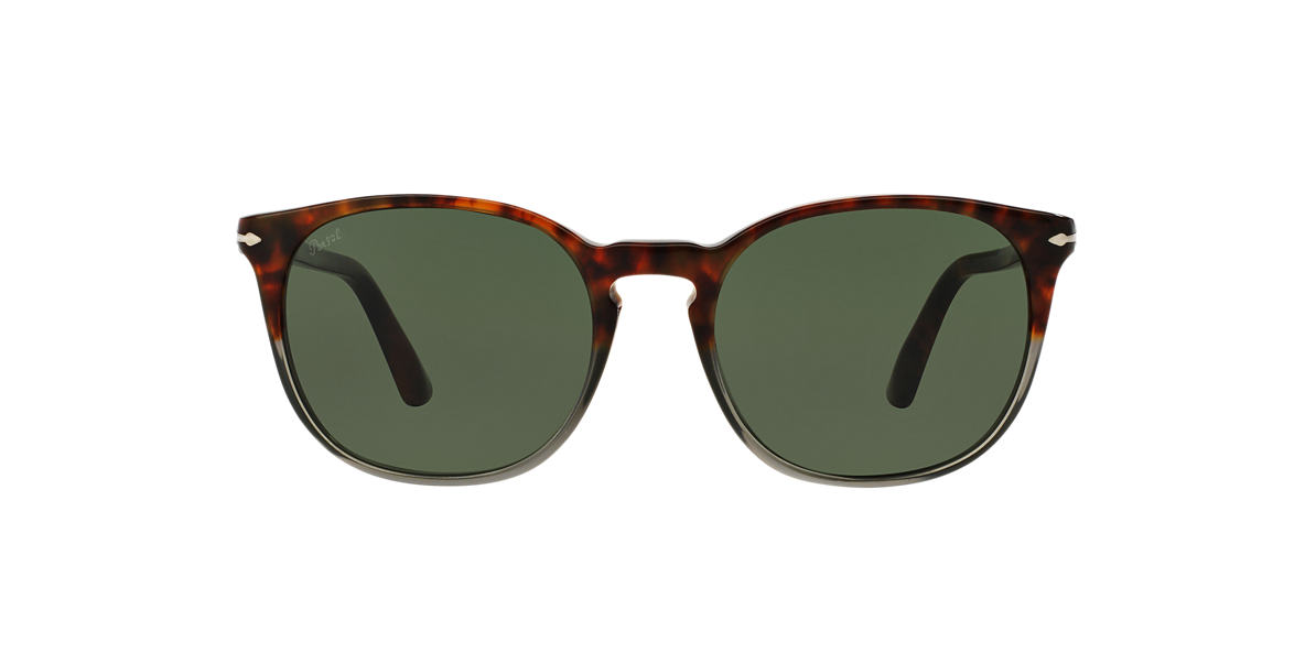 PERSOL Brown PO3007S 53 Green lenses 53mm