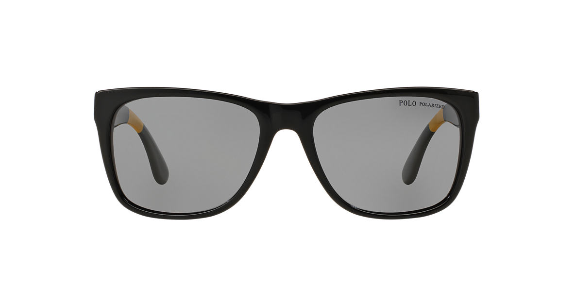 POLO RALPH LAUREN Black PH4106 57 Grey polarised lenses 57mm