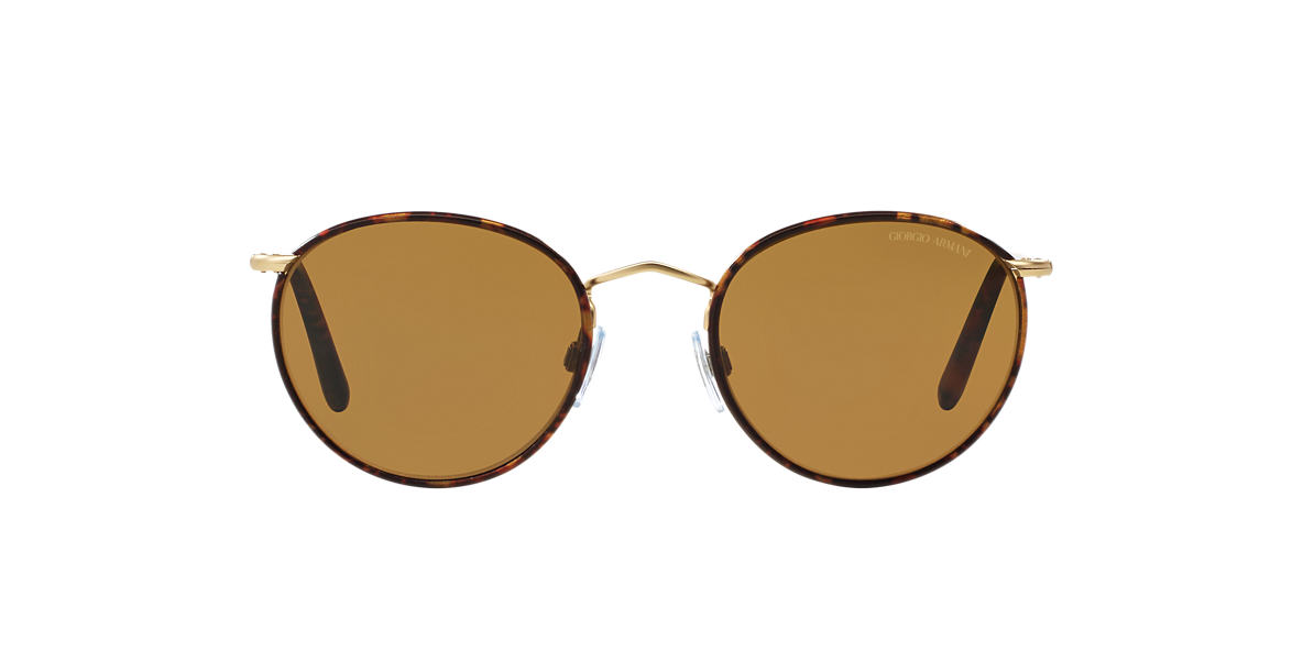 GIORGIO ARMANI Gold Matte AR6016J 51 Brown polarized lenses 51mm
