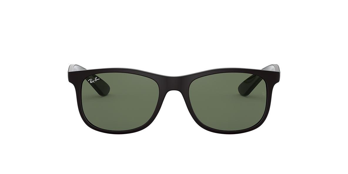 RAY-BAN CHILDRENS Black Matte RJ9062S 48 Green lenses 48mm