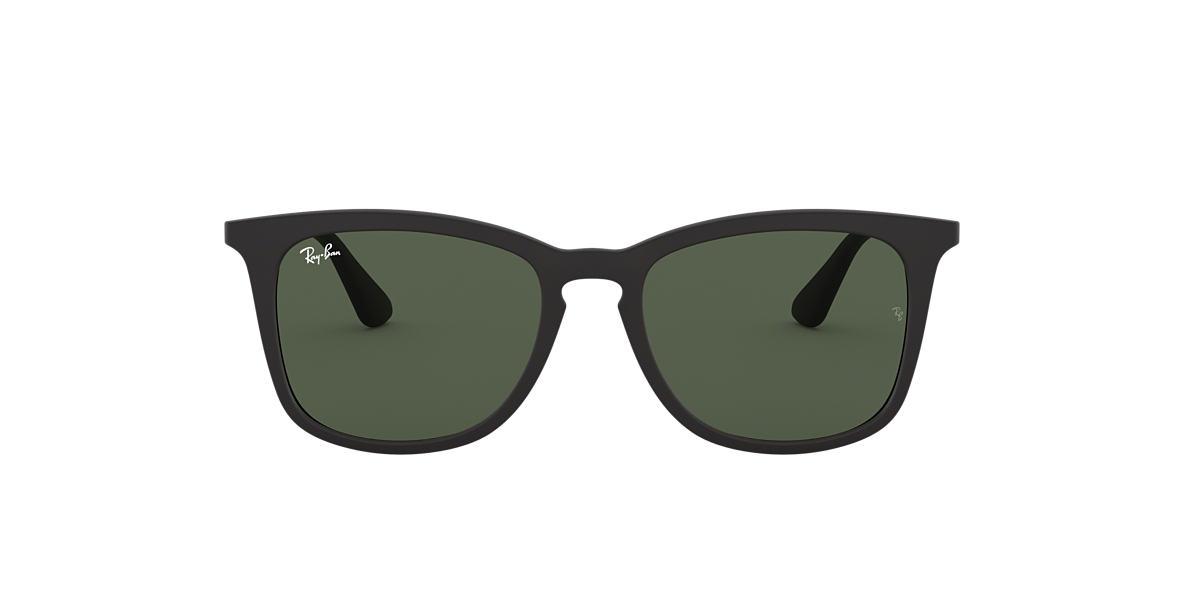 RAY-BAN CHILDRENS Black RJ9063S 48 Green lenses 48mm