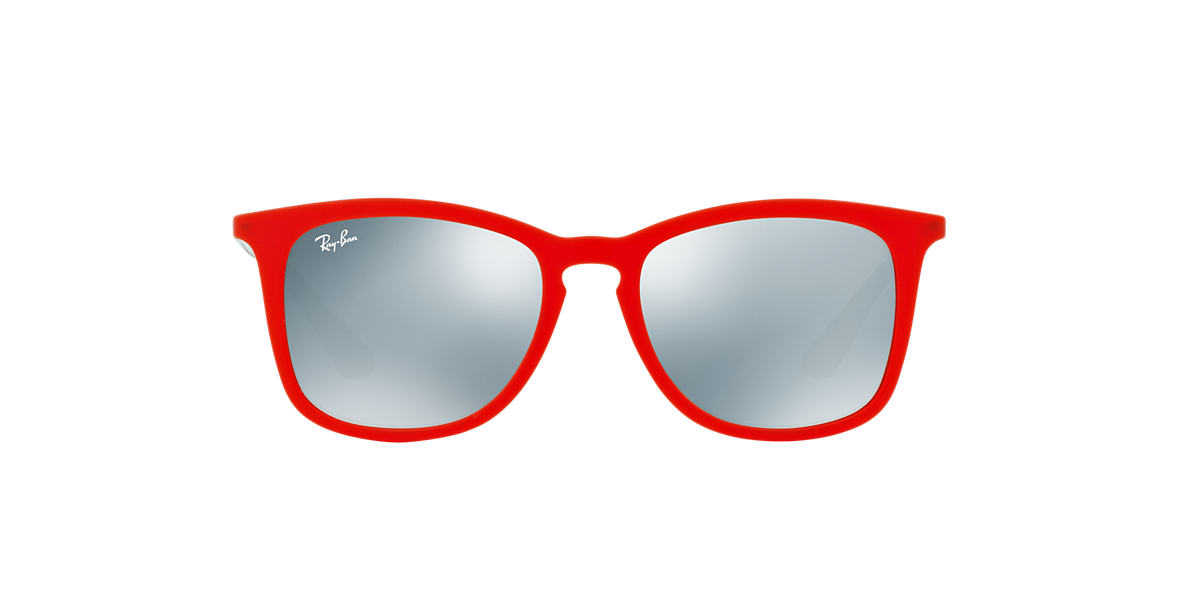 RAY-BAN CHILDRENS Red RJ9063S 48 Silver lenses 48mm