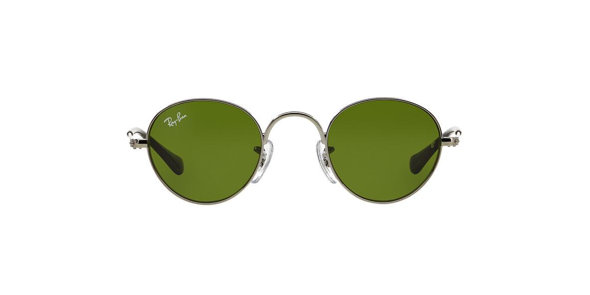 RAY-BAN CHILDRENS Gunmetal RJ9537S 40 Green lenses 40mm
