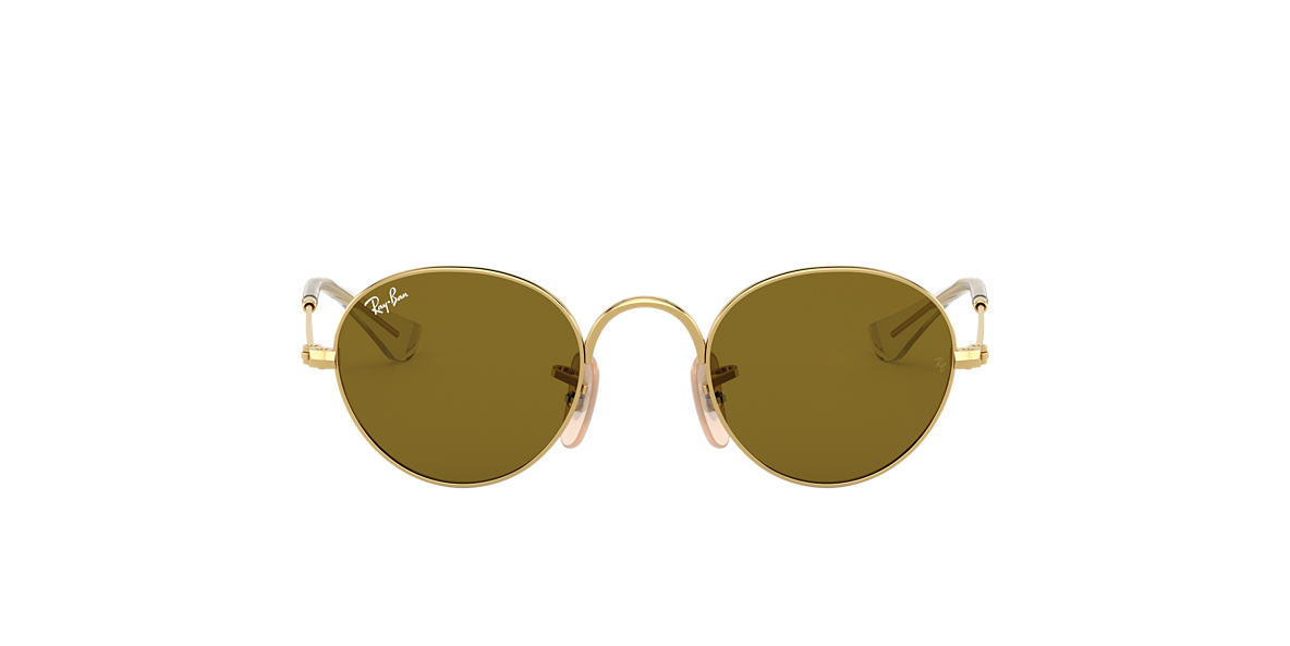 RAY-BAN CHILDRENS Gold RJ9537S 40 Brown lenses 40mm