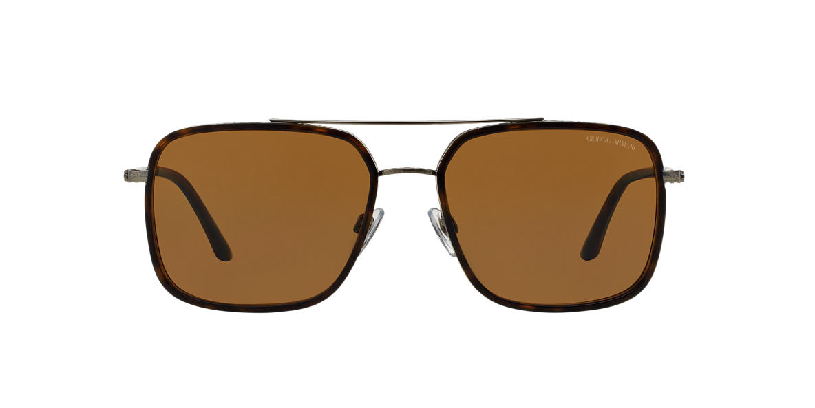 GIORGIO ARMANI Gunmetal Matte AR6031 58 Brown polarized lenses 58mm