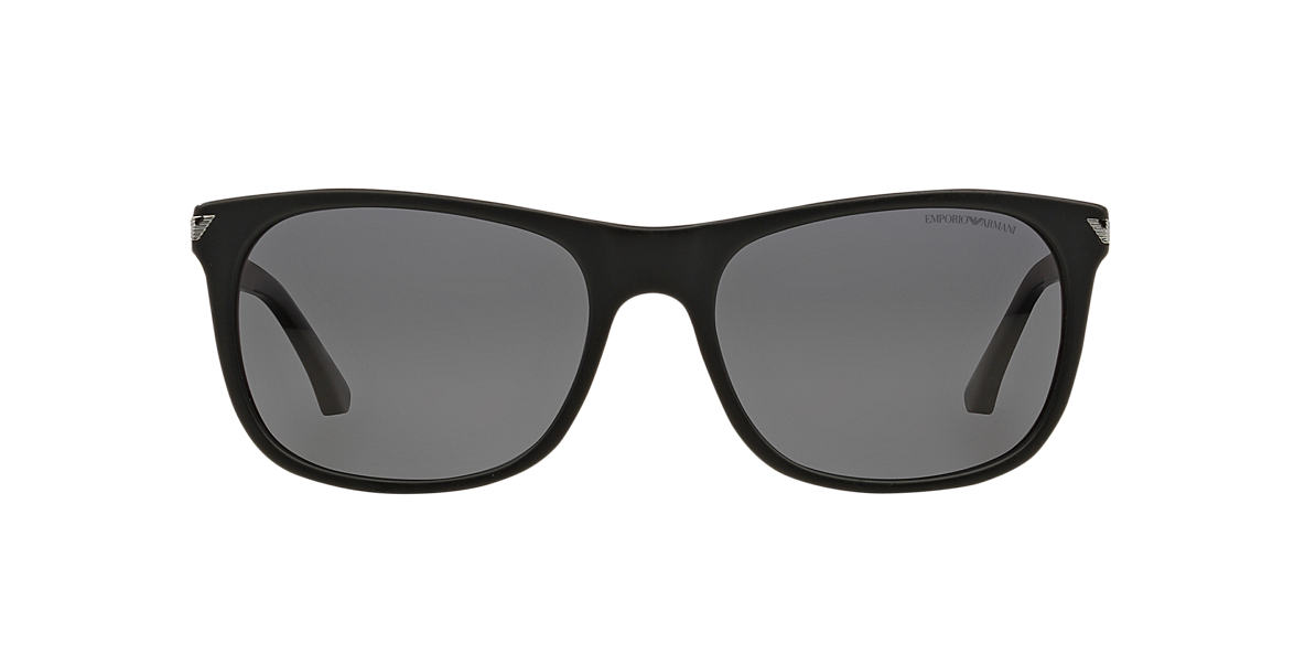 EMPORIO ARMANI Black EA4056 Grey polarised lenses 57mm