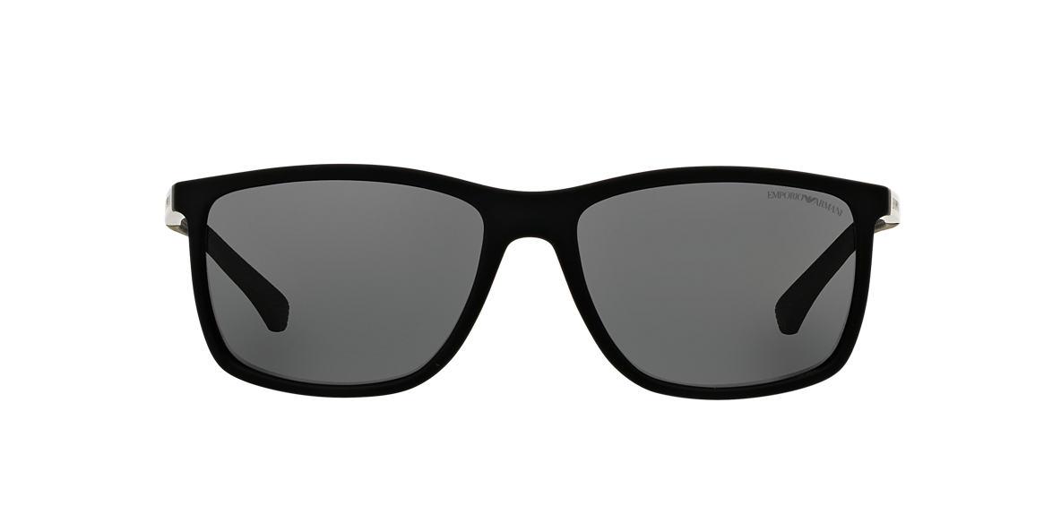 Emporio Armani EA4058 58 Grey & Black Polarised Sunglasses | Sunglass Hut  Australia