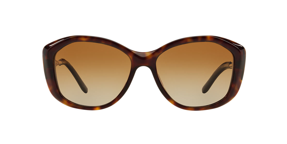 BURBERRY Tortoise BE4208Q Brown polarised lenses 57mm