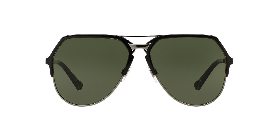 DOLCE AND GABBANA Black DG2151 59 Green lenses 59mm