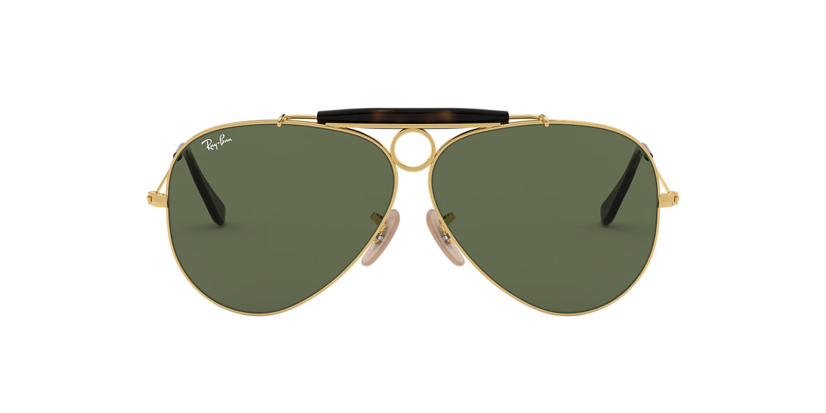 RAY-BAN Gold RB3138 62 Green lenses 62mm