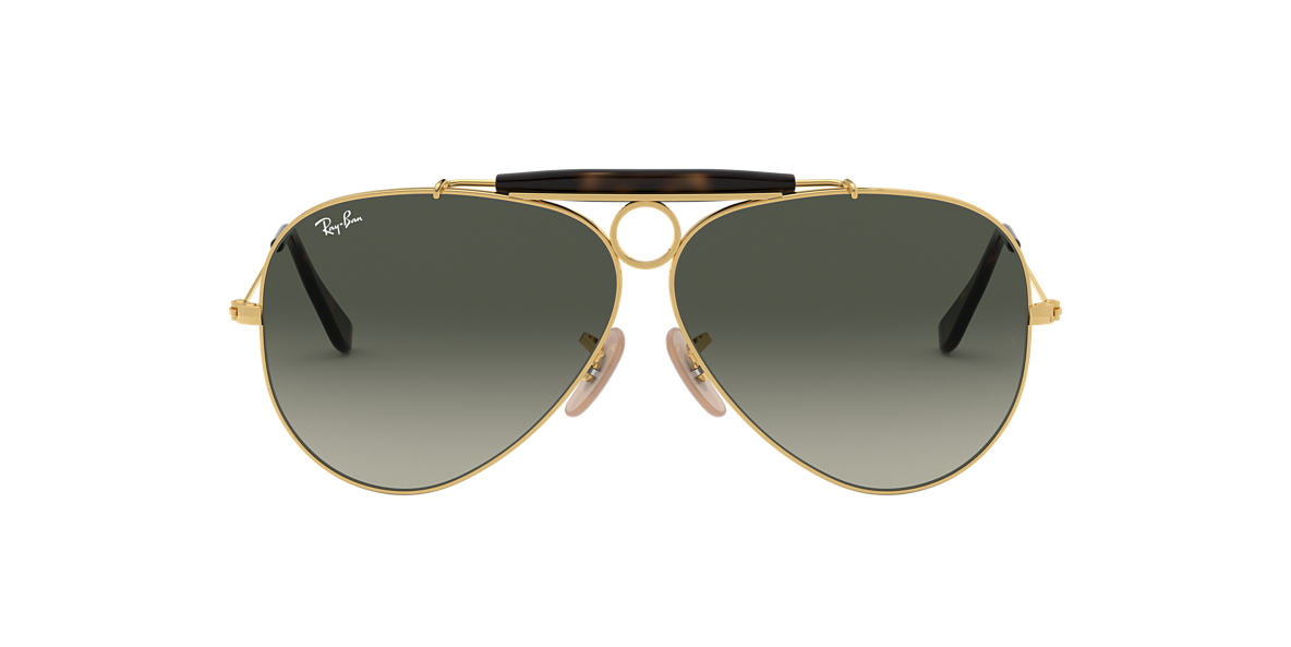 RAY-BAN Gold RB3138 Grey lenses 62mm