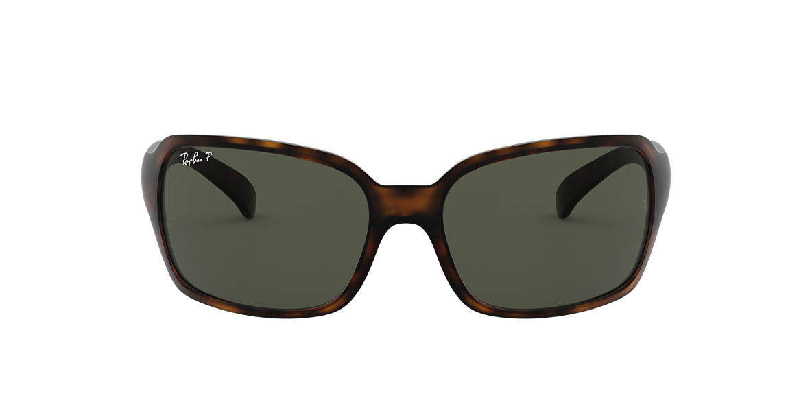RAY-BAN Brown RB4068 60 Green polarised lenses 60mm