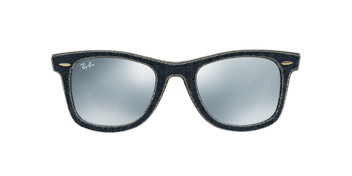 RAY-BAN Blue RB2140 50 ORIGINAL WAYFARER Silver lenses 50mm
