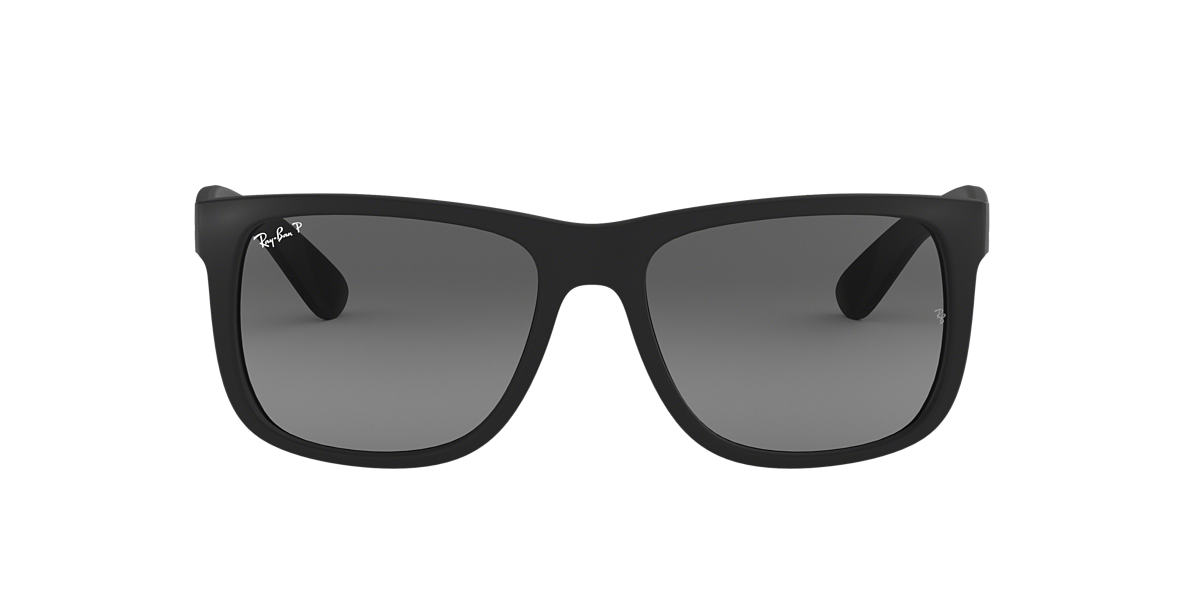 RAY-BAN Black RB4165 54 JUSTIN Grey polarised lenses 54mm