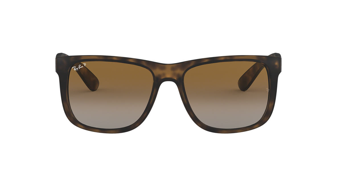 RAY-BAN Tortoise RB4165 54 JUSTIN Brown polarized lenses 54mm