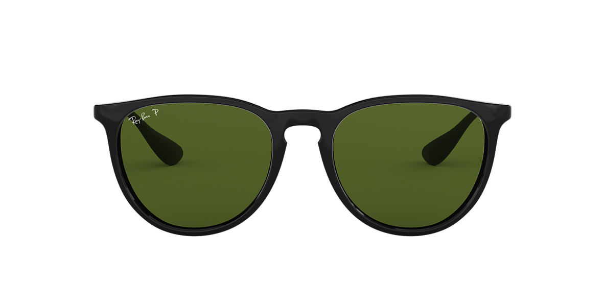RAY-BAN Black RB4171 54 ERIKA Green polarised lenses 54mm