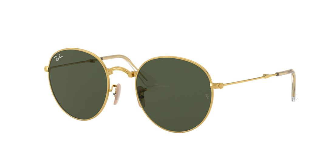 ad2da5fb031 Ray-Ban Rb3532 Gold Round Sunglasses