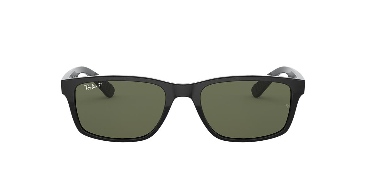 RAY-BAN Black RB4234 58 Green polarized lenses 58mm