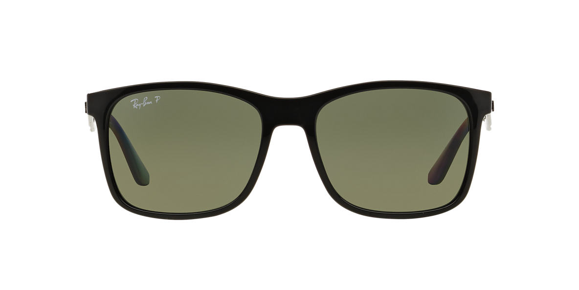 RAY-BAN Black RB4232F Green polarised lenses 57mm