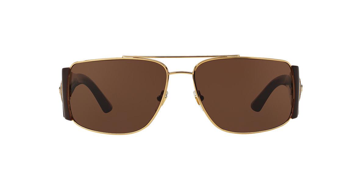 VERSACE Gold VE2163 63 Brown lenses 63mm
