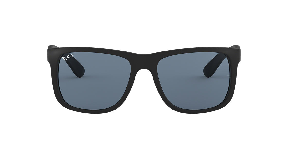 RAY-BAN Black RB4165 54 JUSTIN Blue polarised lenses 54mm
