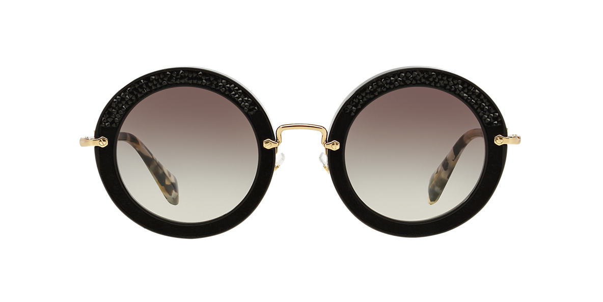 MIU MIU Black MU 08RS 49 Grey lenses 49mm