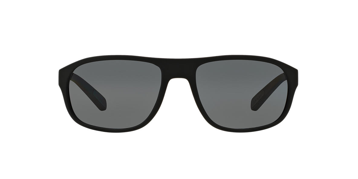 PRADA LINEA ROSSA Black PS 01RS Grey polarised lenses 58mm