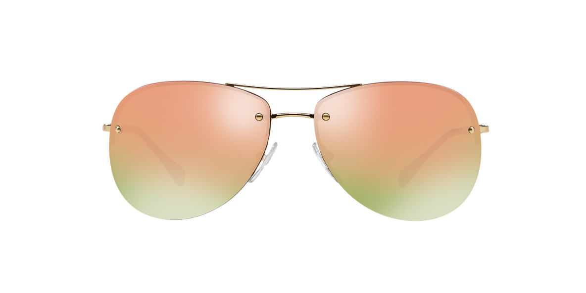 PRADA LINEA ROSSA Gold PS 50RS 59 Grey lenses 59mm