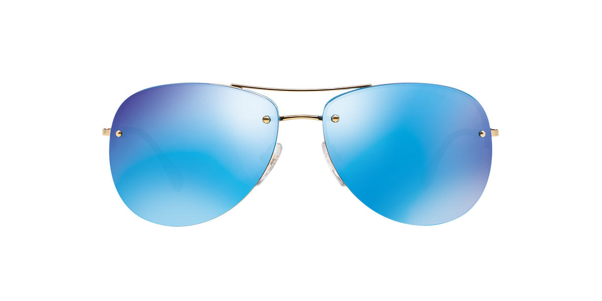 PRADA LINEA ROSSA Gold PS 50RS 59 Blue lenses 59mm