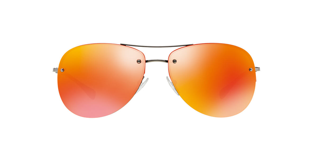 PRADA LINEA ROSSA Gunmetal PS 50RS 59 Orange lenses 59mm