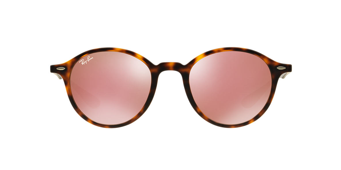 Ray Ban Brown And Pink Sunglasses