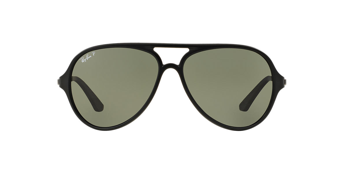 RAY-BAN Black RB4235 Green polarised lenses 57mm