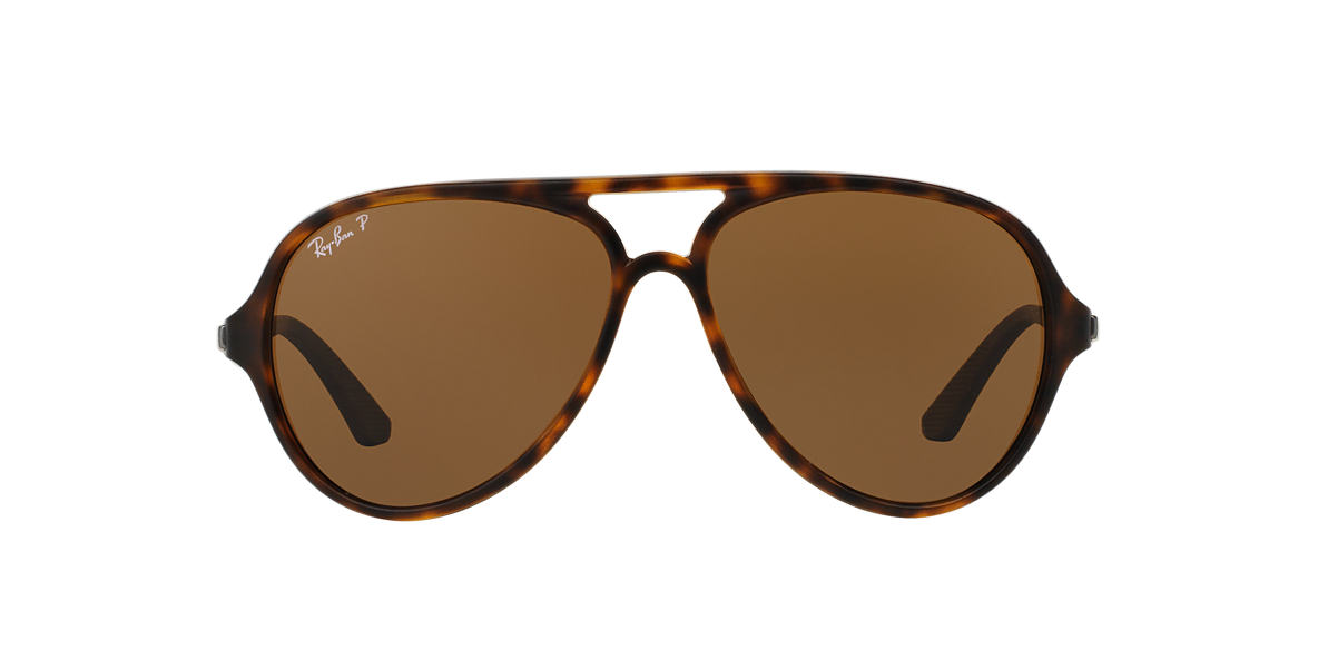 RAY-BAN Brown RB4235 Brown polarised lenses 57mm