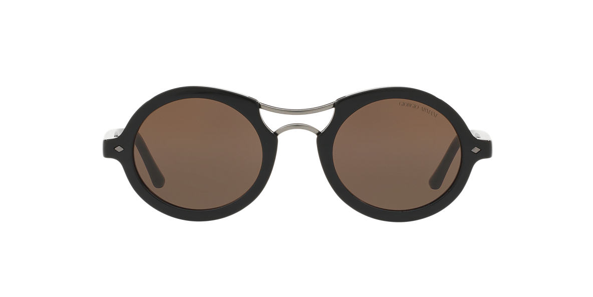 GIORGIO ARMANI Black AR8072 48 Brown lenses 48mm